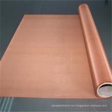 Malla de 200 mallas de Faraday que protege malla de malla de cobre rojo tela infundida malla de alambre