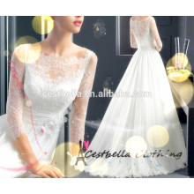 Custom Made High quality beautiful lace bridal gown Wedding Dress