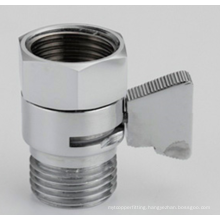 Chromed Mini Shut Off Valve And Flow Control Valve For Handheld Shower Head ,Shattaf Bidet Valve
