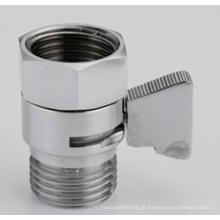 Mini válvula cortada cromada e válvula de controle de fluxo para a cabeça de chuveiro Handheld, válvula do bidê de Shattaf