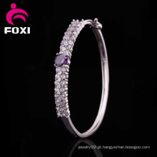 Ródio banhado a moda design traje de noiva brilhar CZ pulseiras