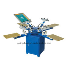 4 Color 4 Station Manual T Shirt Carousel Screen Printing Press Spm450