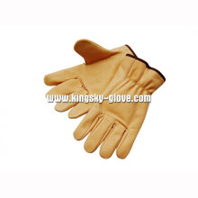 Economy Pig Grain Leather Driver Work Glove