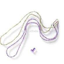 mode bling conceptions simples à facettes zircon perlé collier ras de cou