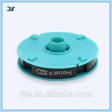 Optical plastic coated wire for eyeglass Frames
