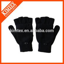 Mode Acryl gestrickt fingerless Handschuhe mit Klappe