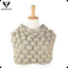 2016 Mão nova feita à mão Chunky Crochet malha colar cachecol