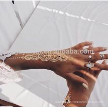 Tatuagens provisórios do corpo da hena de India da tatuagem da transferência da água da personalidade do estilo da hena de India