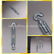 forged chinese manufacturer m12 steel turnbuckle with hook and eye jaw