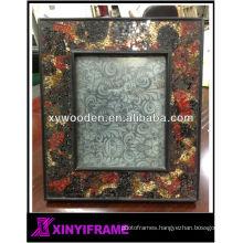 New Design Modern Wooden Mosaic Frame Mirror