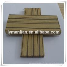 moulure de meubles en bois décoratifs zèbre d'ingénierie pour le marché indien
