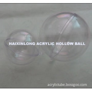 High transparent Acrylic hollow ball for displaying gifts