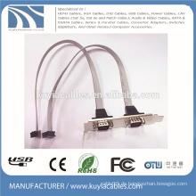 2 Anschlüsse Rs-232 DB9 Halterung Kabel