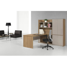 Modern Wooden Manager Desk with Hutch, Staff Desk with File Cabinet, Desk with Cabinet Bookcase (HF-ZTHT2122)