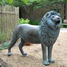 Decoración del jardín popular bronce antiguo león estatua