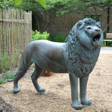 Décoration de jardin populaire statue de lion antique en bronze