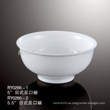 Vajilla de hotel y restaurante de estilo japonés, tazón de cerámica