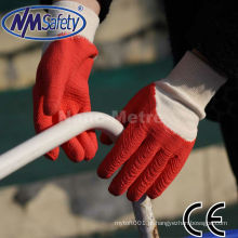 NMSAFETY best selling luvas luva de borracha vermelha de trabalho para trabalhar no exterior
