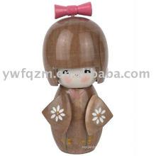Bonecas de Kokeship de madeira