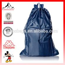 Sac de gymnase d'équipement de ventilateur de sac de maille de cordon
