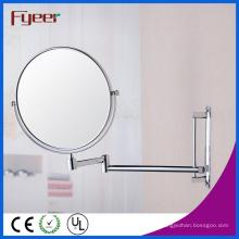 Fyeer 8 polegadas Dupla Face Rodada Espelho de parede de cosméticos (M0418)