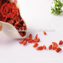 Zhongning Gou qi zi, Getrocknete Wolfsbeeren, Chinesische Ehe-Reben, Rote Mispel, Kasten-Dorn-Frucht, Wolf Beeren