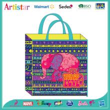 PEACE&LOVE elephant non-woven bag