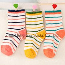 Obras clásicas rayas diseño buena calidad bebé algodón calcetines