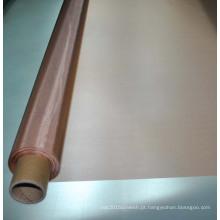 Fabricação de papel vermelha pura de 150 malhas malha de arame de cobre trançada ventilada