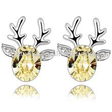 Großhandel Mode Hirsch Form Ohrringe mit österreichischen Kristall gemacht