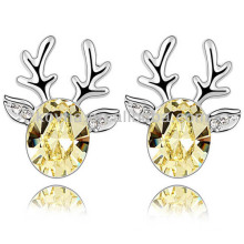 Wholesale fashion deer shape earrings made with Austrian crystal