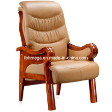 Beige Leather Solid Wood Conference Chair Office Chair (FOH-F03)