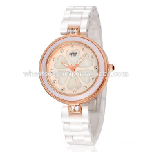 Jinhua fine white ceramic watch water proof watch