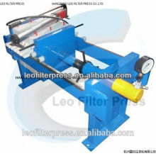 Filtro Leo Prensa Pequeño Tamaño Manual 800 Prensa de filtro para pruebas de laboratorio