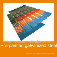 Aço galvanizado pré-pintado