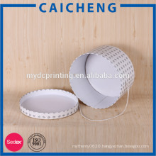 Round hat boxes with lids