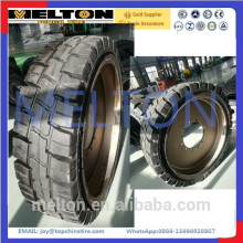 good price high quality SOLID 17.5-25 TIRE with rim
