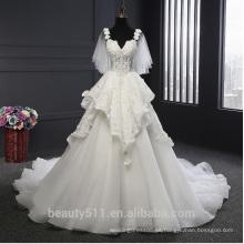 Astergarden vestido nupcial Una línea de correas de los hombros strapless vestido de novia de la colmena TS215