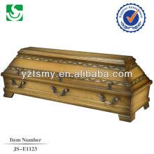 hot sale solid mahogany coffin box