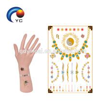 Etiqueta adhesiva plateada y metálica, etiqueta engomada del tatuaje de la tribu de la novia