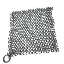 6*8 inch chainmail scrubber Stainless Steel Cast Iron Cleaner