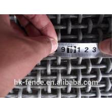 Ferro de alta resistência ou aço inoxidável 304 316 tela de arame de crimpagem para a minha peneira