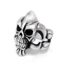 Мужская 316L Нержавеющая сталь кольцо череп кости дизайн