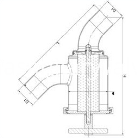 sanitary welded Y-type filter