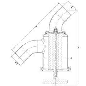sanitary welded Y-type filter