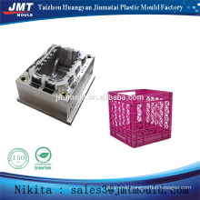 China injection stacked plastic crate mold