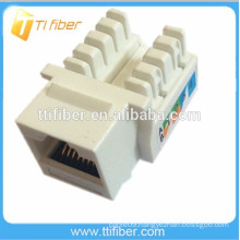 90 Degree UTP Cat6 Keystone Jack, Dual IDC Cat6 Jack For Cat6 Patch Panel