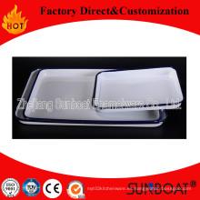 Plato rectangular para alimentos / bandeja rectangular de esmalte / utensilios de cocina