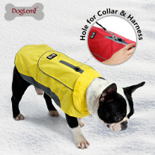 Wholesale Cheap Fashion Dog Jacket Pet Clothes Large Dog Coat with Harness Hole