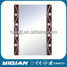 New Design Hangzhou Bathroom Hand Painted Silver Rectangle Mirror